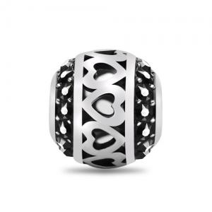 Black bead charm