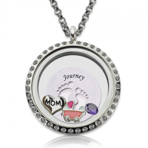 floating locket necklace