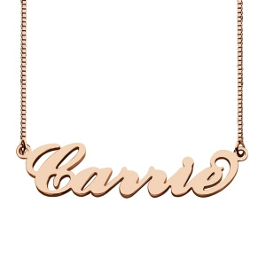 Personalized Stylish Name Necklace In Rose Gold