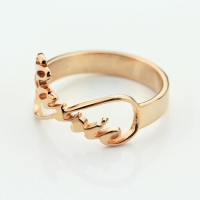 Unique Name Ring Made to Order-Customized Infinity Name Ring Rose Gold