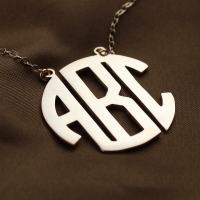 3 Initial Monogram Necklace