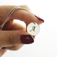 Collier Initial-3 Initiales-Argent