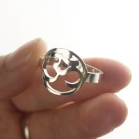 Personalized Om Yoga Ring Sterling Silver