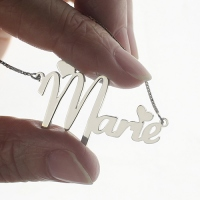 Cute Name Necklace for Her Sterling Silver