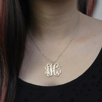 Personalized Taylor Swift Monogram Necklace Sterling Silver