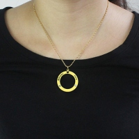 Circle of Love Name Necklace with Birthstone