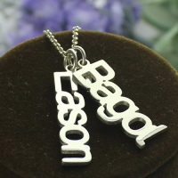 Family Vertical Names Necklace