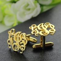 Gold letter cufflinks