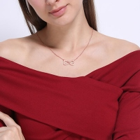 Rose Gold Infinity Heart d Necklace
