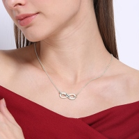 Silver Infinity Name Necklace