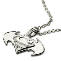 superman batman pendant
