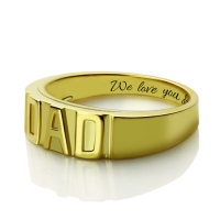 men's DAD ring