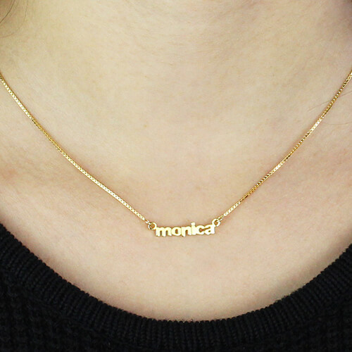 ef419f167ccbbf Personalized Small Lowercase Name Necklace in Gold