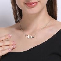 cursive style necklaces