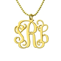 Mix & Match Monogram earrings & Monogram Necklace Set