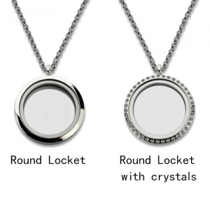 Lovable Custom Circle Christmas Floating Locket Stainless Steel