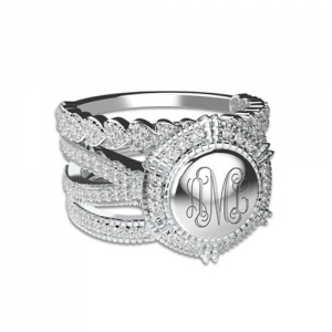 engraved monogram rings