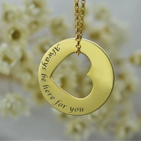 Always Be Here For You Promise Necklace