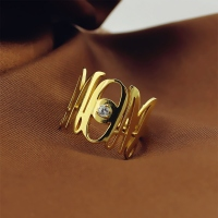 Custom Monogram Initial Birthstone Ring For Mom Gold Plated