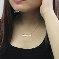 Solid Gold Karen Style Name Necklace