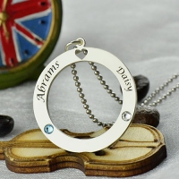 Circle of Love Name Necklace