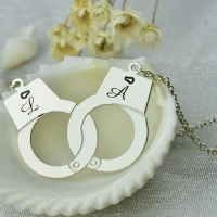 Handcuff Name Necklace