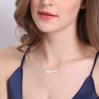 Personalized Carrie Name Necklace Sterling Silver