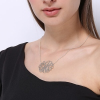 XL monogram necklace
