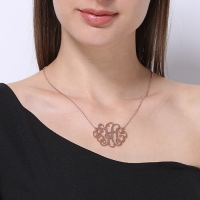 XL monogram necklace