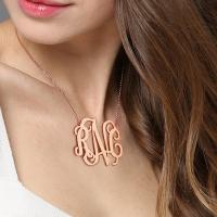 XXL monogram necklace