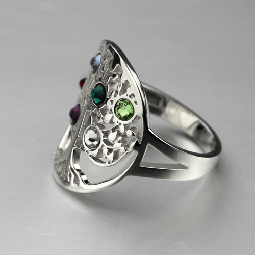 mother u0026 39 s day gift  family tree ring with birthstones sterling silver