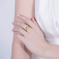 customed letter ring