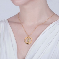 engraved circle necklace