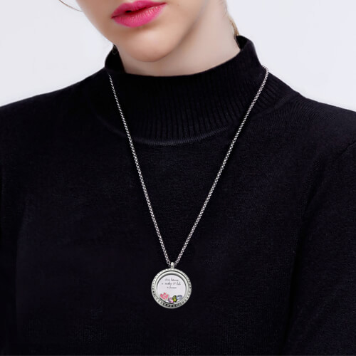 silver mother necklace