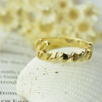 Custom Carrie Name Ring 18k Gold Plated
