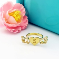 Amazing 18k Gold Plated Angel Wings Heart Ring with Birthstone & Initial