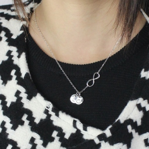 Custom Infinity Initial Necklace: for Sisters or Friends