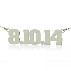 Sterling Silver Number Name Necklace: Unique Men's Jewelry