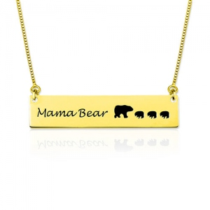Collier Mama Bear-Plaqué Or