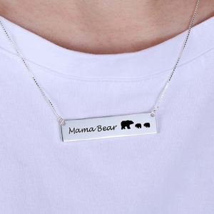 bears bar necklace