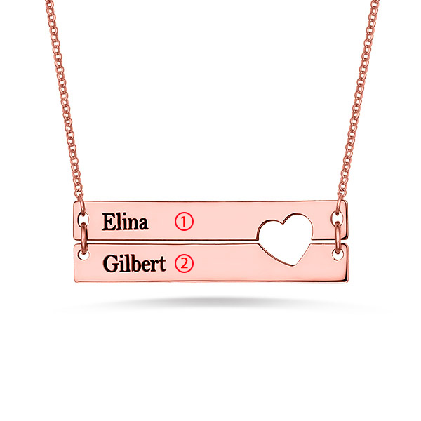 bar necklace for couple