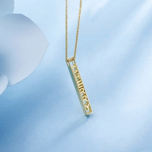 bar necklace with name