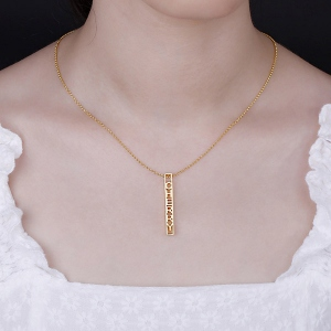 bar necklace gift