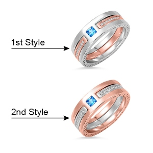 two colour ring