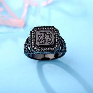 black plated ring