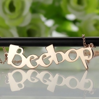 Beetle fonts Personalized Name Necklace