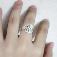 Block Monogram Ring