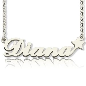 Personalized Letter Name Necklace Sterling Silver