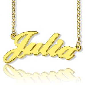 Solid Gold Julia Style Name Necklace