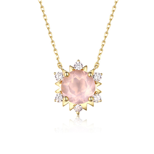 Pink crystal diamante star shaped s925 necklaces 18 mozeypictures Choice Image